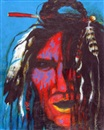 Dale Auger, Portrait in headdress