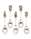 Toye, Kenning & Spencer, Queens beast spoons (set of 10) (+ Apostle teaspoons (set of 12), smllr; 22 pieces)