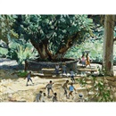 George Franklin Arbuckle, Football in the park, Cuernavaca, Mexico