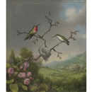 Martin Johnson Heade, Hummingbirds and apple blossoms