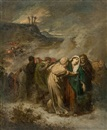 Attributed To Paul Hippolyte Delaroche, Heimkehr der Leidtragenden von Golgatha