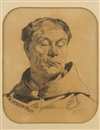Emile Wauters, Folie de Hugo Van Der Goes (study)