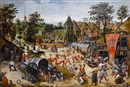 Studio Of Pieter Brueghel the Younger, The kermesse of Saint George
