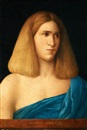 Attributed To Giovanni Bellini, Porträtt av yngling, bystbild