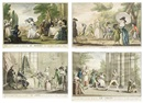 Giuseppe Piattoli, Giuochi, trattenimenti e feste annue: La berlina (+ 23 others; set of 24 w/title)