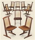 Mira Nakashima-Yarnall, Conoid chairs (set of 10)