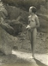 Forman Hanna, Untitled (female nude standing) & 1 other work