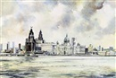 Brian Richard Entwhistle, Liverpool viewed from the Mersey (+ 3 others; 4 works)