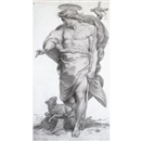 Giuseppe Cades, Standing figure of Christ as the good shepherd