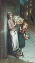 Augustus Edwin Mulready, Flower girls- a summers night