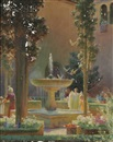 Charles Courtney Curran, A Moorish garden. (Alhambra)