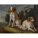 Follower Of John Wootton, Two spaniels in a landscape