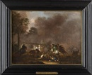 Attributed To Alexander van Gaelen, Battle scenes (pair)