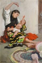 John Gannam, Mother and child
