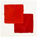 Mary Heilmann, Double red crackle (from Crackle portfolio)