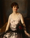 Frank H. Desch, Portrait of a seated woman in a party dress
