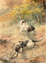 Edmund Henry Osthaus, Two English Setters working a field