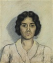Beauford Delaney, Untitled (Portrait of a young woman)