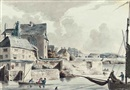 John Claude Nattes, View of the Port of Stonehouse, Plymouth (+2 others; 3 works)