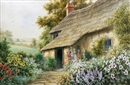 Ernest E. Abbott, English thatched cottage