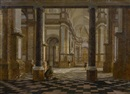 Anonymous –Flemish (18), Kircheninterieur