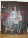 J. C. Miles, A double portrait of Rosina Bradford Tidcombe age 11 and Laura Joyce Tidcombe aged 4 years and 8 months (+ Portrait of a woman; 2 works)