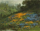 William Franklin Jackson, California hillside with poppies and lupine