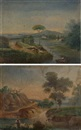 José Atienza Murillo, Paisaje (+ another; pair)