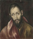 Studio Of El Greco, Head of an Apostle (attributed)