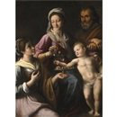 Fabrizio Santafede, The Holy Family with Saint Dorothea