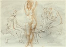 Louis Kahan, Life class drawing
