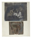 Bruce McLean, Two figures (+ 3 others; 4 works on 2 sheets)