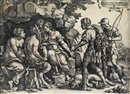 Georg Pencz, Tamiris hiding King Cyrus head (+ 2 others; 3 works)