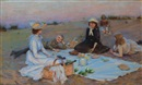 Charles Courtney Curran, Picnic supper on the sand dunes