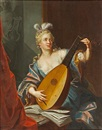 Emmanuel Jakob Handmann, A lady playing a lute