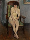 Eugen Spiro, Nude seated in a chair