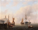 Govert van Emmerik, Ships in the inner harbour (+ Ships on the Zuiderzee; 2 works)