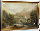 Attributed To James Pattison Cockburn, A mountainous river landscape