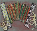 John Banting, Harmonica accordion (+ Untitled; 2 works)
