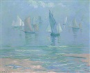 Theodore Earl Butler, Sailboats at Dieppe