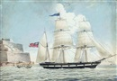 "Nicholas Cammillieri, The British barque ""Anna Robertson"" of Scarborough leaving Malta"
