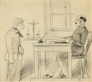 Mikolas Ales, Konvolut von Zeichnungen (5 works incl. 1 in pencil, various sizes)
