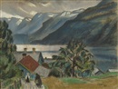 Marcus Collin, Landscape from the Fjords, Grundsund Norway