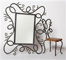 Heather Burrell, Mirror and two side chairs