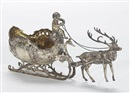 Gerbruder Neumann, A table decoration as a sleigh with reindeer driven by a putto