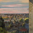 Larry Cohen, View of downtown L.A.(Rossmore and rosewood) from a balcony