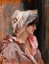 Albert Edelfelt, Parisian lady in peignoir