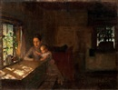 Albert Edelfelt, Interior of a crofter's cottage (study)