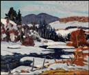 Randolph Stanley Hewton, River in winter