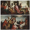 Peruvian School-Cuzco (18), Adoration of the Magi (+ Adoration of the Shepherds; 2 works)